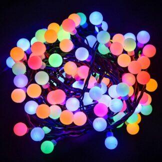 Színes LED dekorációs gyöngy füzér